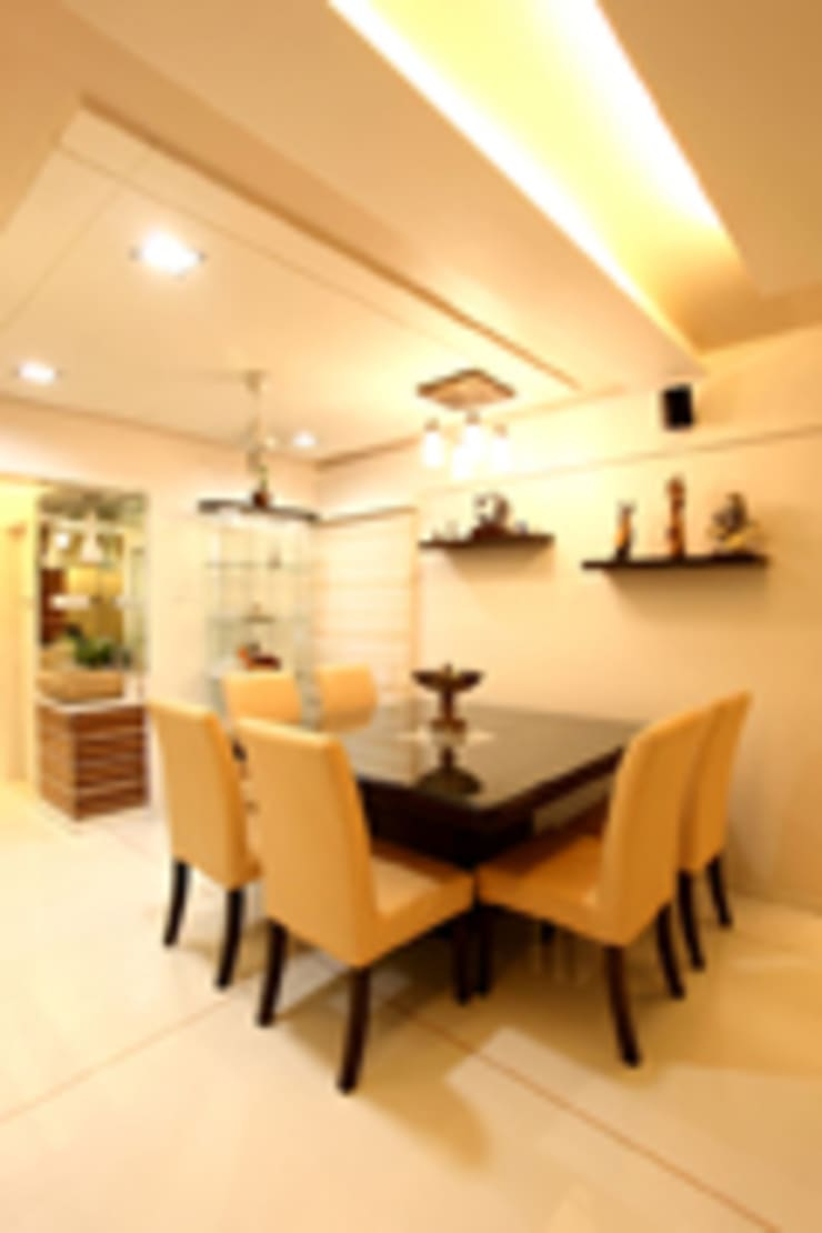 Chaten Disoza:  Dining room by PSQUAREDESIGNS,Modern