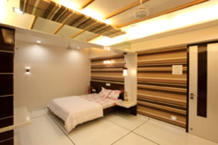 Chaten Disoza:  Bedroom by PSQUAREDESIGNS,Modern