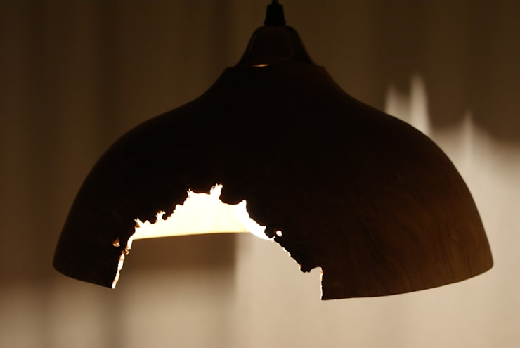 ランプシェード(クリ): 木ものNAKAYAが手掛けた折衷的なです。,オリジナル 木 木目調