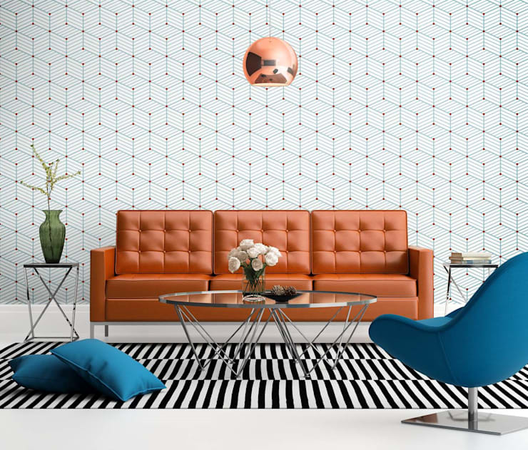 Salas/Recibidores de estilo  por Tapeterie