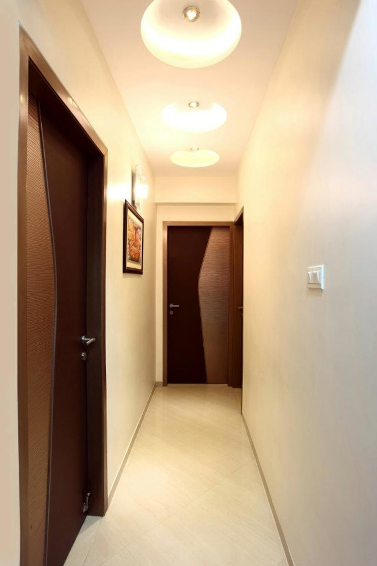 Bharat Bhanushali:  Corridor & hallway by PSQUAREDESIGNS,Modern