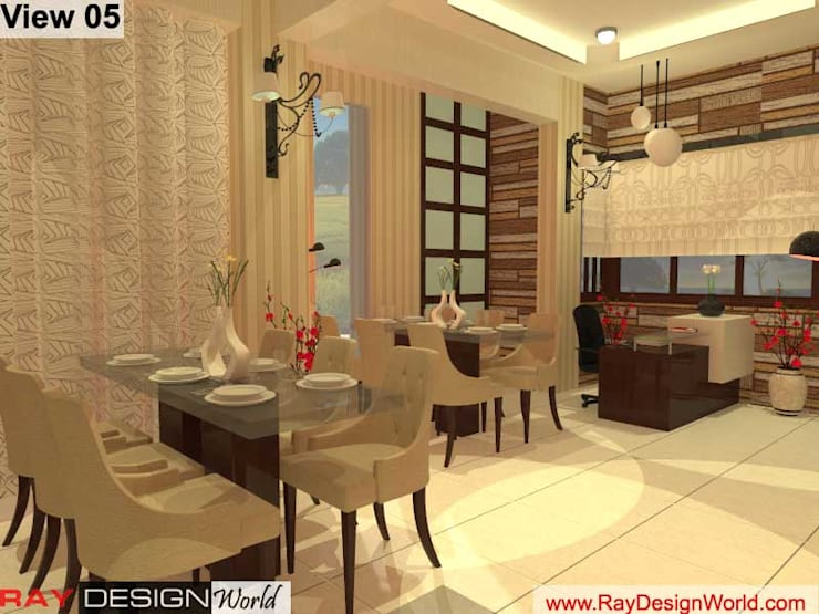 Indian Restaurant: asian Dining room by Ray Design World