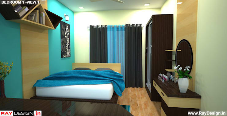 House in Mumbai:  Bedroom by Ray Design World