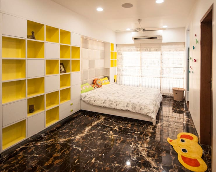 Anmi Residence:  Bedroom by andblack design studio