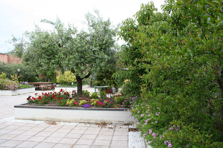 Giardino pensile Optima Giardini pensili per edificio commerciale:  in stile  di Febo Garden landscape designers