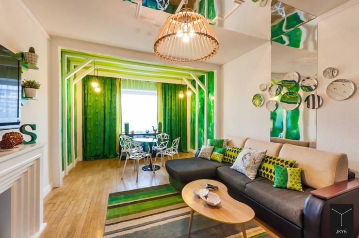 Зеленая беседка: Гостиная в . Автор – Yucubedesign
