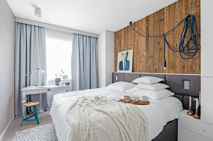 Eclectic style bedroom by Ayuko Studio Eclectic Wood Wood effect
