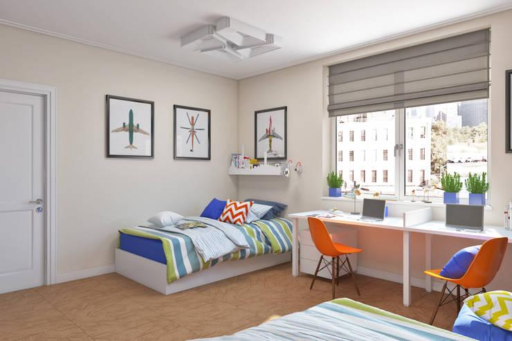Детская комната с грифельной стеной Детские комната в эклектичном стиле от IdeasMarket Эклектичный
