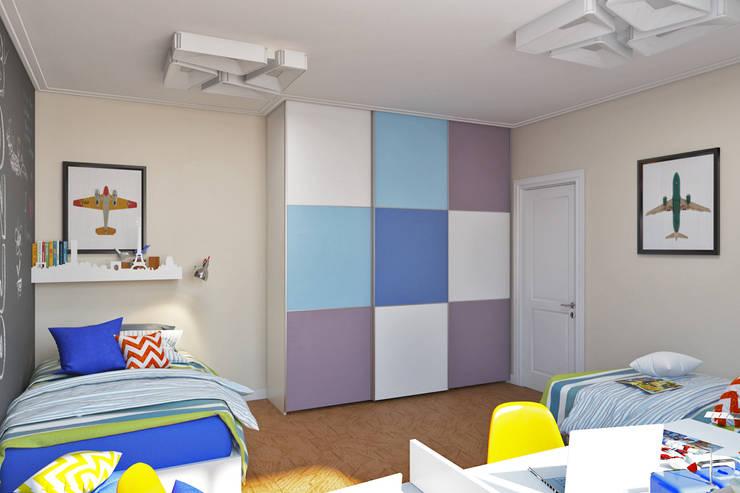 Детская комната с грифельной стеной Детские комната в эклектичном стиле от IdeasMarket Эклектичный МДФ