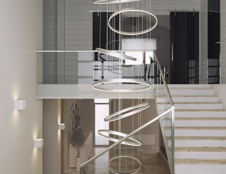 Прихожая, коридор и лестницы в . Автор – homify
