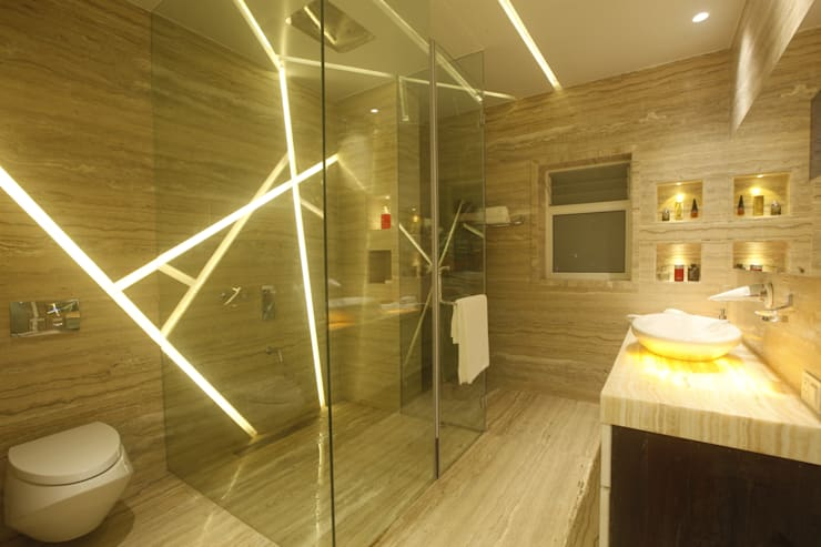 INDRA HIRA:  Bathroom by INNERSPACE
