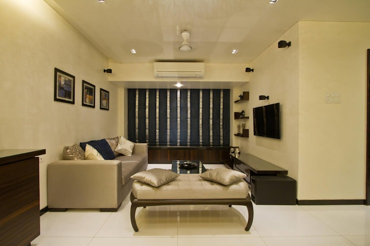 Residential project:  Living room by Kunal & Associates,Modern