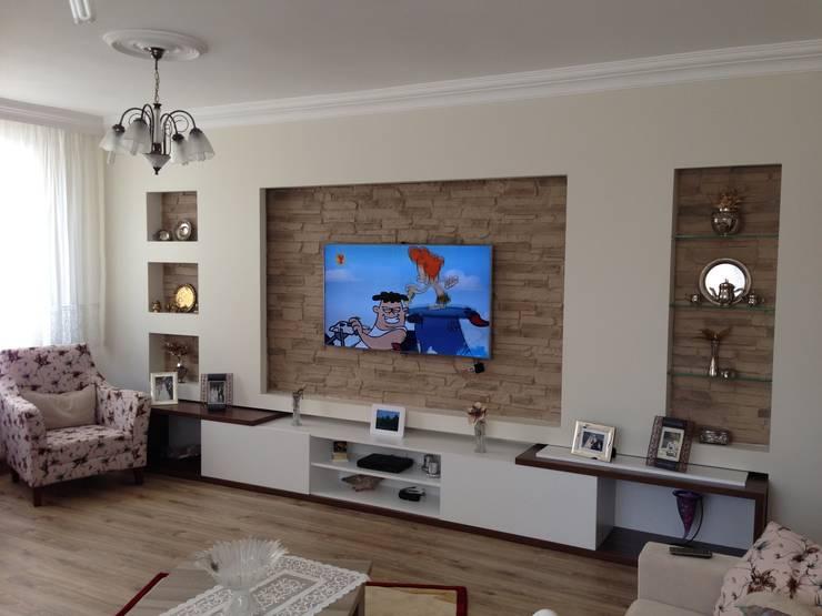 Vizyon Mimarlık ve Dekorasyon – B&T.Ş Evi ( Edirne ):  tarz Duvar & Zemin
