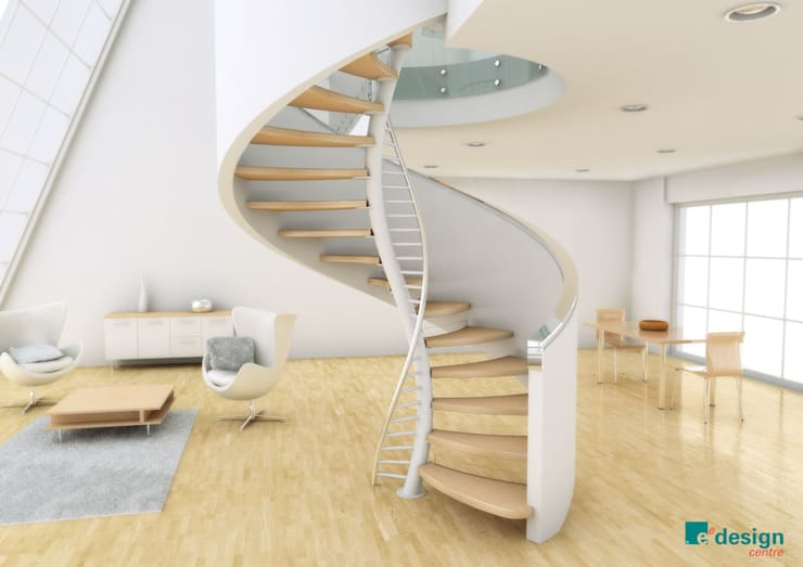 DNA by EeStairs®:  Gang en hal door EeStairs | Stairs and balustrades, Modern Hout Hout