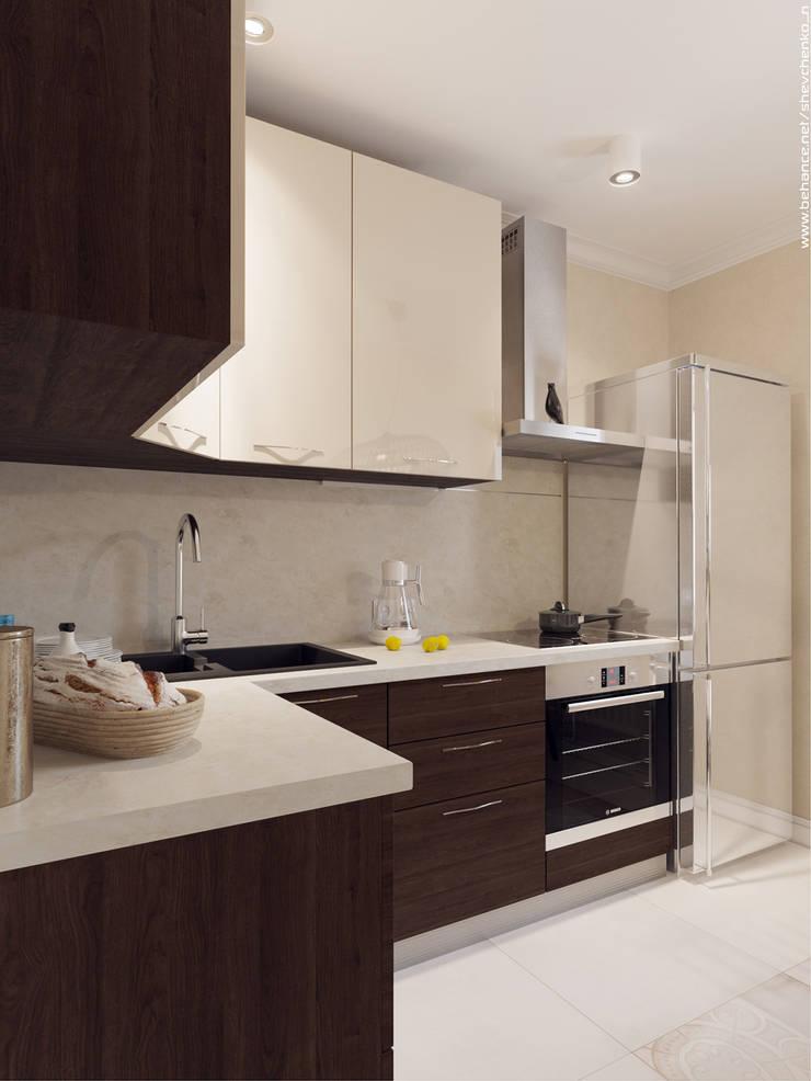 Small kitchen Кухня в стиле модерн от Shevchenko_Nikolay Модерн