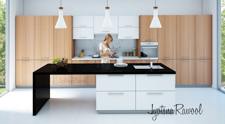 3D render:  Kitchen by jyotsnarawool