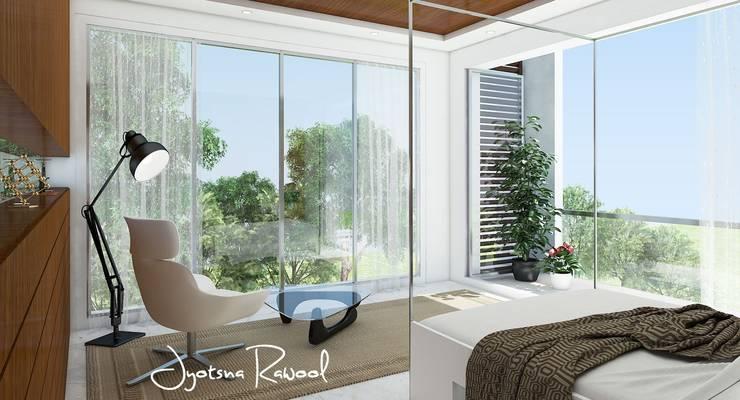 3D render:  Bedroom by jyotsnarawool