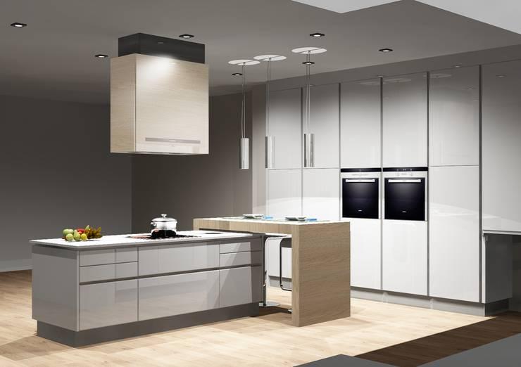 Cozinhas | Roupeiros | Moveis de banho: Cozinhas  por Amplitude - Mobiliário lda