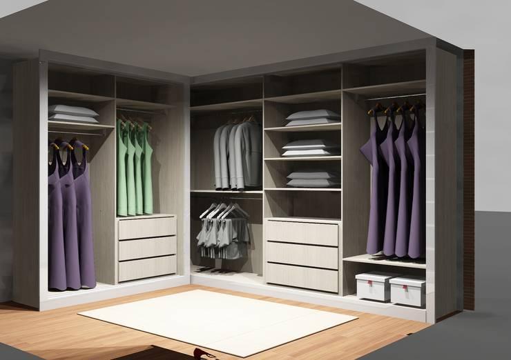 Cozinhas | Roupeiros | Moveis de banho: Closets modernos por Amplitude - Mobiliário lda