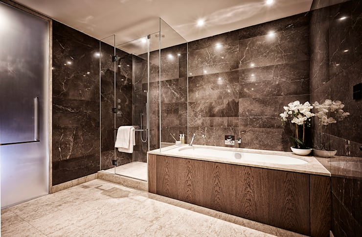 5&6 Connaught Place, Hyde Park, London. : classic Bathroom by Flairlight Designs Ltd