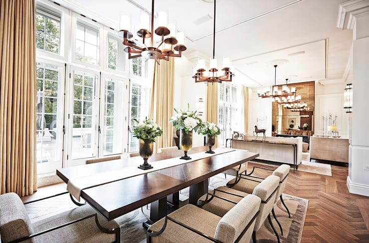 5&6 Connaught Place, Hyde Park, London. :  Dining room by Flairlight Designs Ltd
