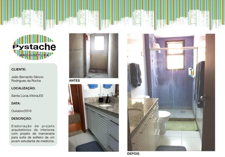 Reforma de Banheiro Jovem Rapaz:   por Pystache Arquitetura