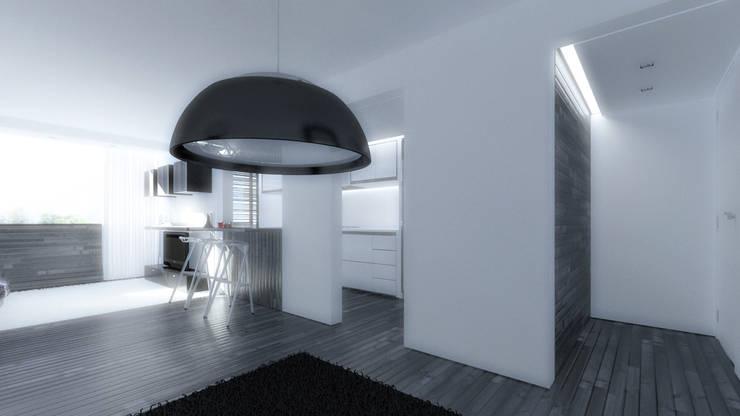 Salón: Salas / recibidores de estilo minimalista por Odart Graterol Arquitecto