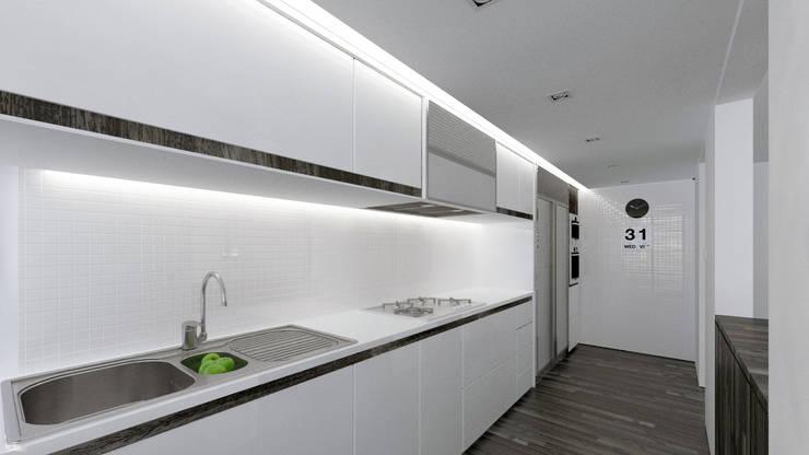 Cocina lineal: Cocinas de estilo minimalista por Odart Graterol Arquitecto