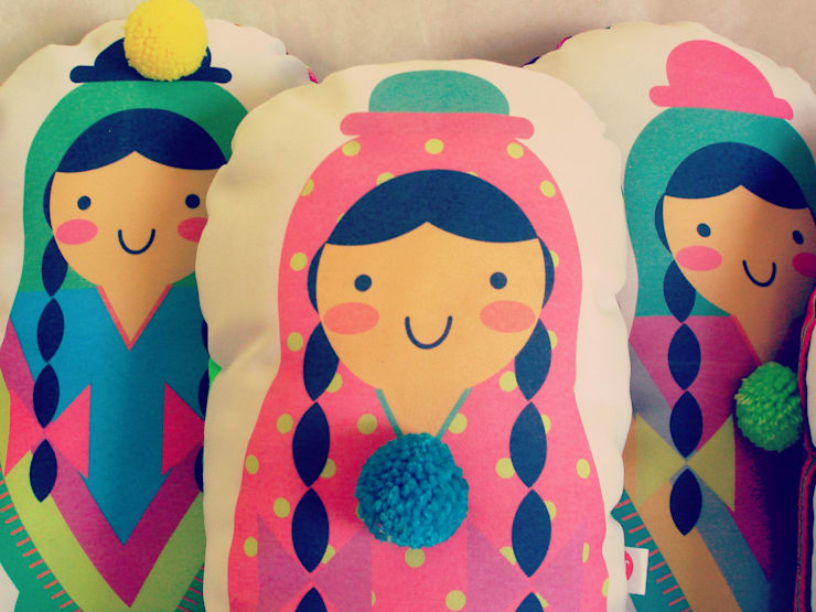 Almohadón Coyita: Dormitorios de estilo  por Kiut - Objetos para presumir tu casa