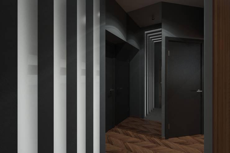 Дизайн-проект квартиры для молодого архитектора: Коридор и прихожая в . Автор – Катя Волкова, Лофт