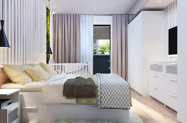 Дизайн-проект квартиры для молодой пары.: Спальни в . Автор – Катя Волкова
