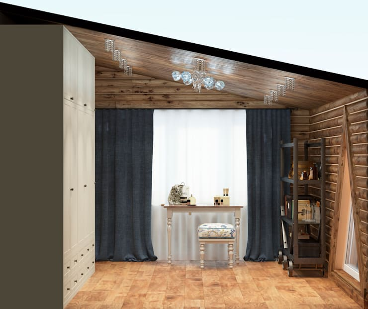 Дизайн-проект интерьера загородного дома.: Гардеробные в . Автор – Катя Волкова
