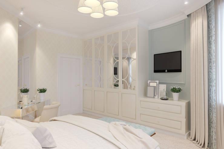 Дизайн-проект спальни для нежной и утонченной девушки.: Спальни в . Автор – Катя Волкова,
