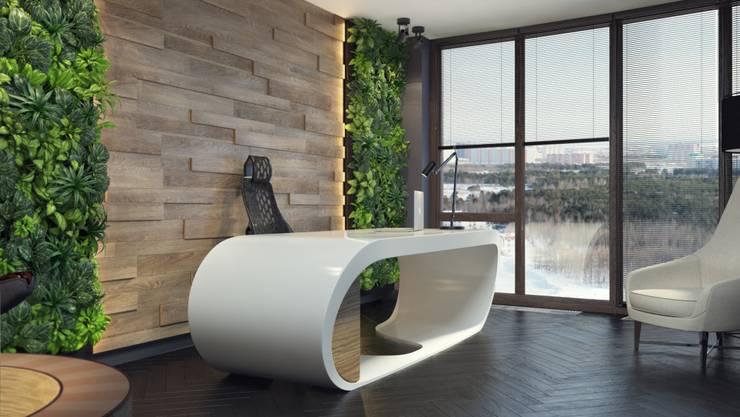 Дизайн-проект кабинета. Пентхаус. Рабочий кабинет в эклектичном стиле от Катя Волкова Эклектичный