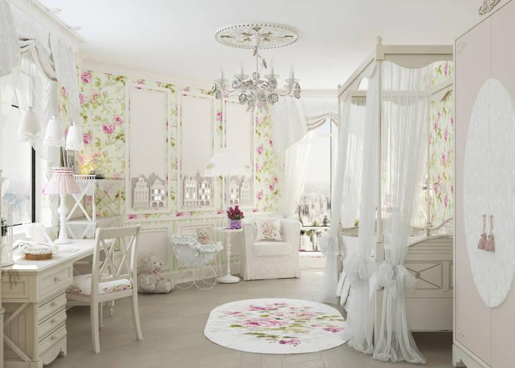 Детская комната для девочки: Детские комнаты в . Автор – Студия дизайна Дарьи Одарюк
