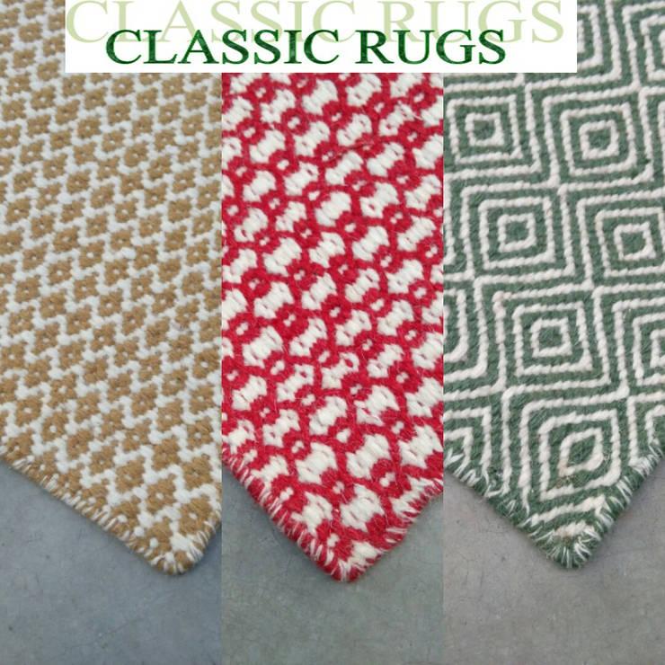 woollen fleatweave:  Walls & flooring by Classic Rugs