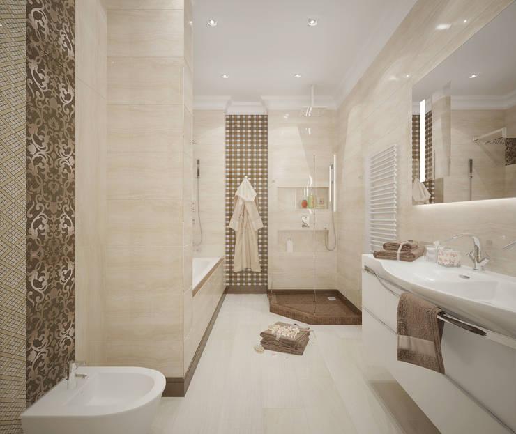 """Ванная комната """"Gentle tone"""": Ванные комнаты в . Автор – Студия дизайна Дарьи Одарюк, Классический"""