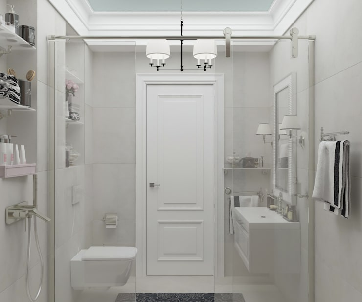 """Санузел """"Francisco"""" Ванная в классическом стиле от Студия дизайна Дарьи Одарюк Классический"""