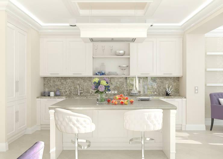 Кухня-столовая NewClassic Кухня в классическом стиле от Студия дизайна Дарьи Одарюк Классический