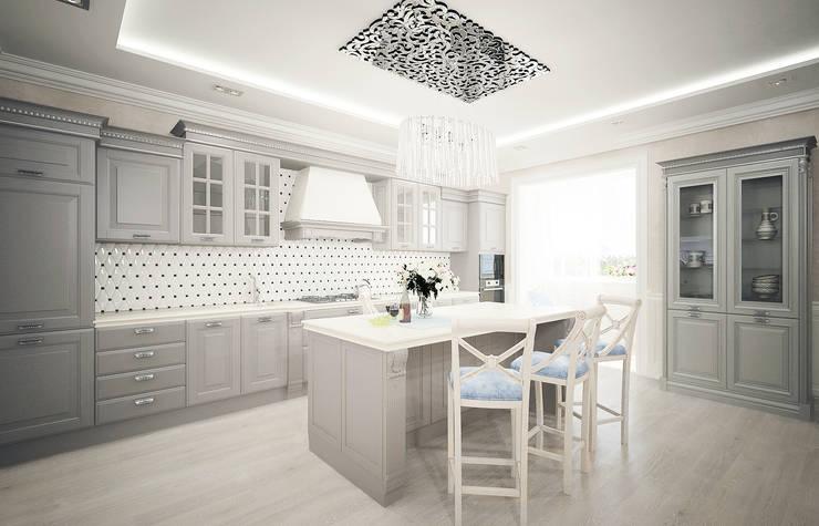 Кухня в стиле неоклассика vol.1: Кухни в . Автор – Студия дизайна Дарьи Одарюк, Классический
