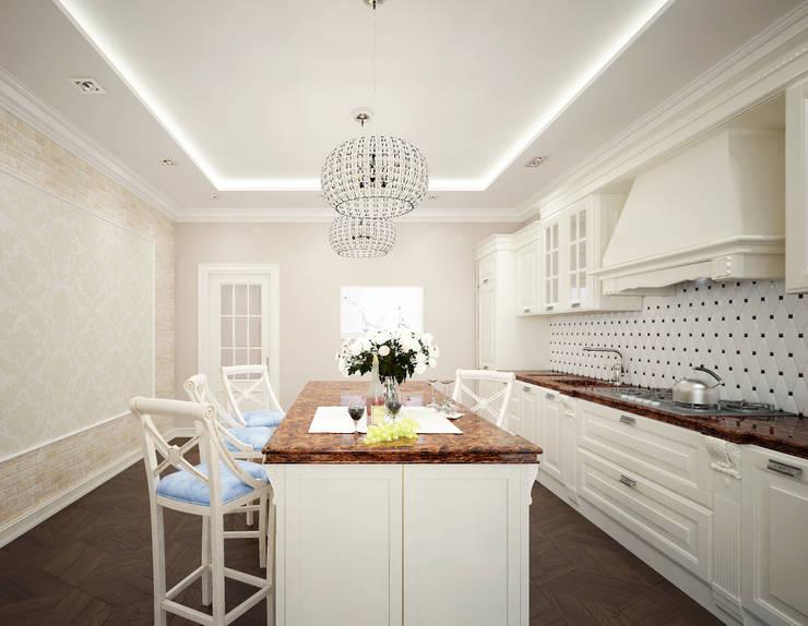 Кухня в стиле неоклассика vol.3: Кухни в . Автор – Студия дизайна Дарьи Одарюк, Классический