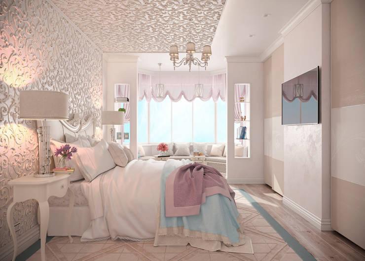 """Спальня """"Неоклассика""""  vol.2: Спальни в . Автор – Студия дизайна Дарьи Одарюк, Классический"""