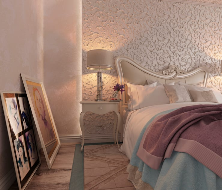 Classic style bedroom by Студия дизайна Дарьи Одарюк Classic