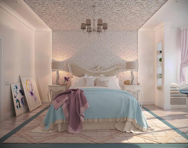 """Спальня """"Неоклассика"""" vol.3: Спальни в . Автор – Студия дизайна Дарьи Одарюк"""