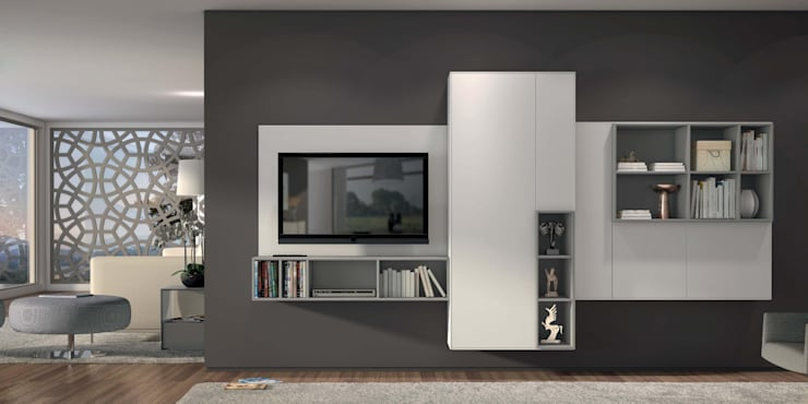 minimalistic Living room by Intense mobiliário e interiores;