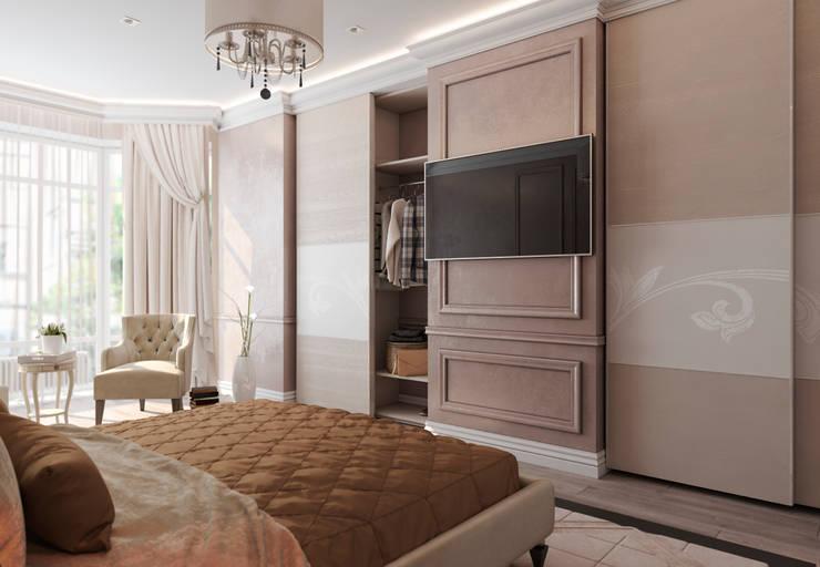 Спальня Неоклассика vol.4: Спальни в . Автор – Студия дизайна Дарьи Одарюк, Классический