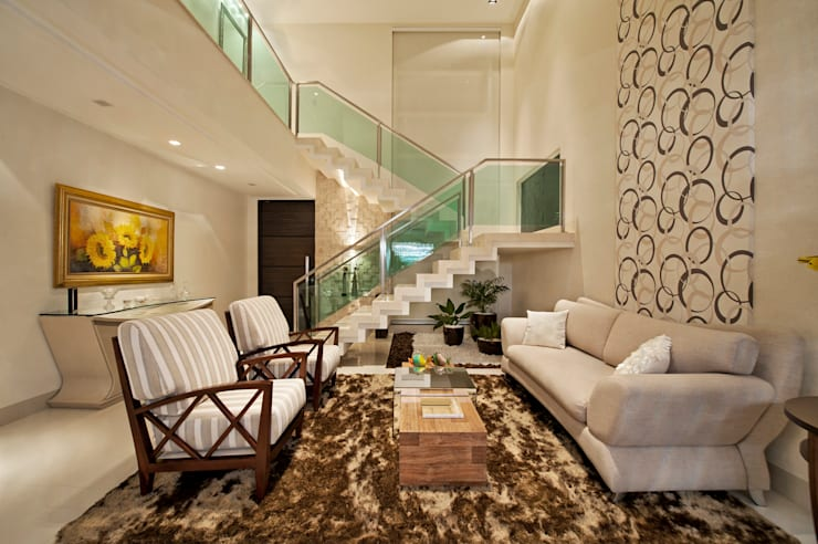 Living room by Livia Martins Arquitetura e Interiores