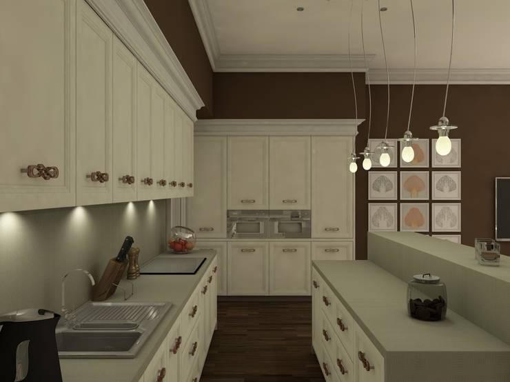 Американская история Кухни в эклектичном стиле от Студия Интерьерных Решений Десапт Эклектичный