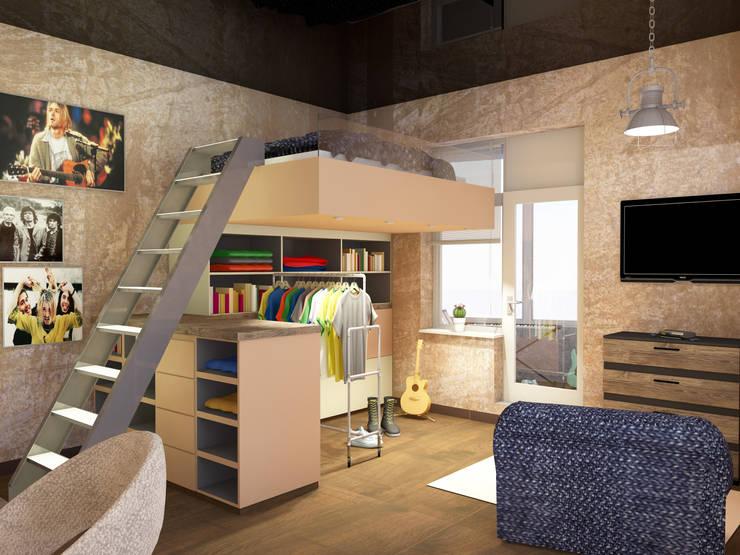 Теплая квартира Детская комната в стиле лофт от Студия Интерьерных Решений Десапт Лофт