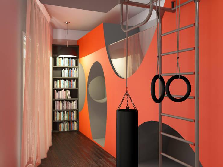 Оранжевое настроение Детские комната в эклектичном стиле от Студия Интерьерных Решений Десапт Эклектичный